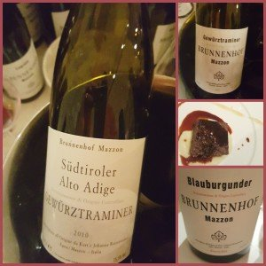 A Dinner with Wines from Brunnenhof Mazzon in Alto Adige
