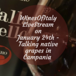 #WinesOfItaly #LiveStream on January 24th with Armando Pistolese