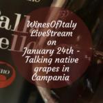 #WinesOfItaly #LiveStream on January 24th with Armando Pistolese