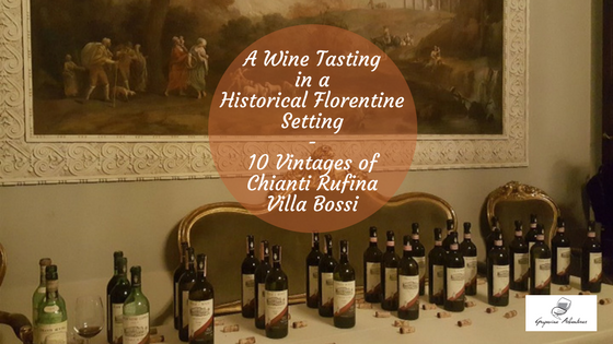 A Wine Tasting in a Historical Florentine Setting – 10 Vintages of Chianti Rufina Villa Bossi