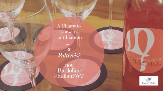 A Chiaretto is always a Chiaretto…a Valtenési not Bardolino #ItalianFWT
