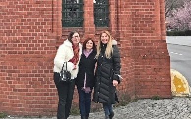 Together with Maria Sobrino and Alicia Eckert by Hotel am Borsigturm at Berliner Wine Trophy