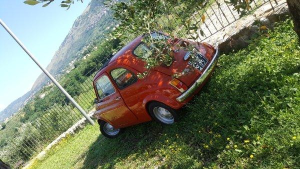 A Fiat 500 in the Lazio Countryside